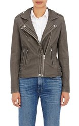 Iro Women's Han Leather Moto Jacket Grey