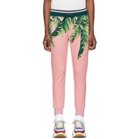 Dolce And Gabbana Pink Floral Lounge Pants