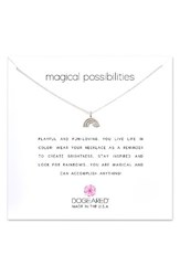Dogeared Women's Reminder Magical Possibilities Pendant Necklace Silver