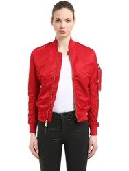 Alpha Industries Ma 1 Vf Lw Bomber Jacket Red