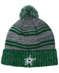 Old Time Hockey Dallas Stars Merlin Pom Knit Hat Gray Black
