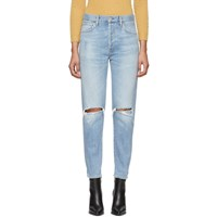 Citizens Of Humanity Blue Olivia High Rise Slim Ankle Jeans