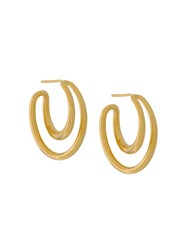 Charlotte Chesnais Initial Hoop Earrings Gold