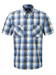 Tog 24 Severn Check Short Sleeve Classic Collar Shirt Teal