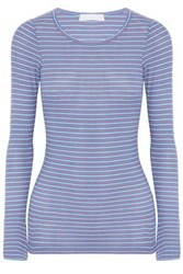 Kain Label Striped Ribbed Knit Top Azure