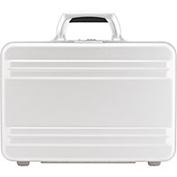 Zero Halliburton Men's Slimline 3 Small Attache Silver