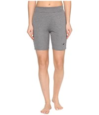 Asics Abby Long Shorts Dark Grey Heather Women's Shorts Gray
