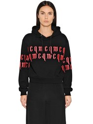 Mcq By Alexander Mcqueen Embroidered Cropped Sweatshirt