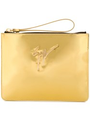 Giuseppe Zanotti Design Margery Mirrored Clutch Metallic