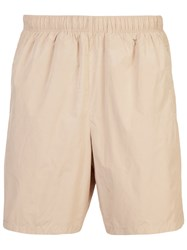 Our Legacy Bullet Flared Shorts Nude And Neutrals