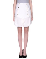 Uniqueness Knee Length Skirts White