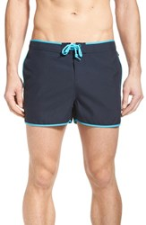 Men's Original Penguin 'Earl Fixed Box' Swim Trunks Total Eclipse