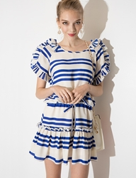 Pixie Market Sail On Ruffle Dress