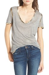 Zadig And Voltaire Women's Tino Foil Tee Gris