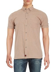 Strellson Rayce Short Sleeved Button Down Shirt Orange