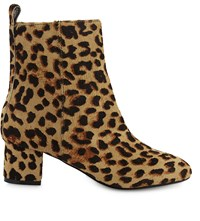 Aldo Parroni Haircalf Heeled Ankle Boots Natural Print