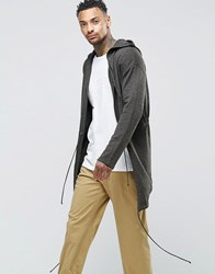 Asos Knitted Parka In Khaki Twist Khaki Twist Green