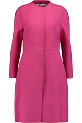 Valentino Silk And Wool Blend Coat Purple