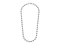 King Baby Studio Small Mb Cross Chain Necklace W Black Cz Stones