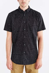 Zanerobe Seven Foot Polka Dot Button Down Shirt Black