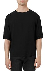 Men's Topman Raw Edge Three Quarter Sleeve T Shirt