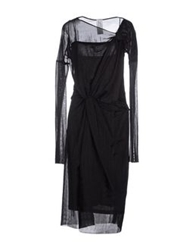 Uniqueness 3 4 Length Dresses Black