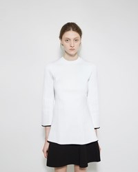 Proenza Schouler Flared Pleated Rib Crewneck