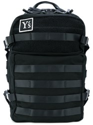 Y's Laptop Backpack Cotton Leather Black