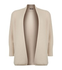Basler Cashmere Wool Open Knit Cardigan Female Neutral
