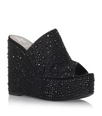 Gina Hampton Crystal Wedges Female Black