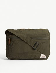 Barbour Packaway Nylon Messenger Bag Dk Green