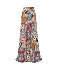 Etro Printed Crepe Skirt Multicoloured