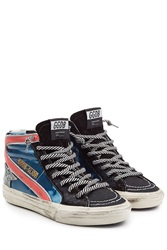 Golden Goose Leather High Top Sneakers Multicolor