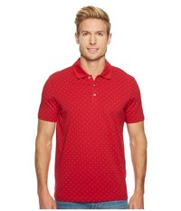 Perry Ellis Micro Print Pima Cotton Polo Shirt Haute Red Clothing