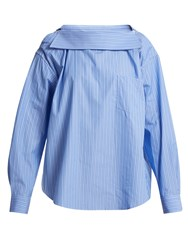 Toga Back To Front Striped Shirt Blue