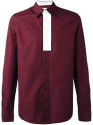 Marni Contrast Placket Shirt Red