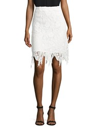 Vero Moda Floral Lace Pencil Skirt Snow White