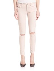 Ag Jeans Aged Denim Distressed Legging Ankle Jeans Sun Faded Distressed Sandy Rose
