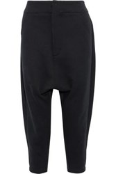 Y 3 Adidas Future Cropped Cotton Blend Track Pants Black
