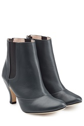 Repetto Leather Ankle Boots Grey