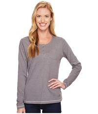 Jack Wolfskin Essential Long Sleeve Tarmac Grey Women's Clothing Gray