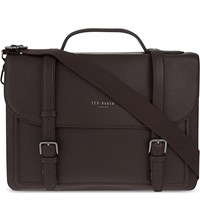 Ted Baker Jagala Leather Satchel Chocolate