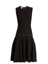 Oscar De La Renta Sleeveless Wool And Silk Blend Dress Black