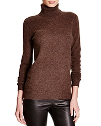 C By Bloomingdale's Turtleneck Cashmere Sweater Heather Rye