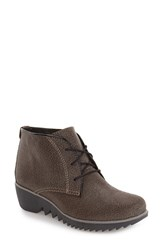 Wolky Women's 'Dusty' Hidden Wedge Bootie Taupe Malibu Suede