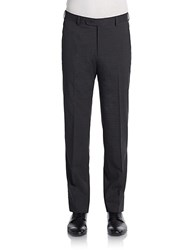 Saks Fifth Avenue Black Neat Check Wool Trousers Grey