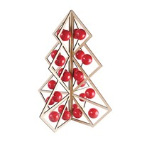 Be And Liv Tree24 Wooden Christmas Calendar Red