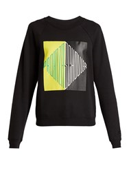 Pswl Logo Print Cotton Jersey Sweatshirt Black Multi