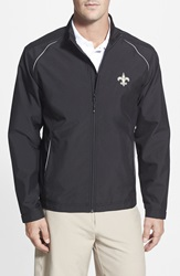 Cutter Buck 'New Orleans Saints Beacon' Weathertec Wind And Water Resistant Jacket Big And Tall Black