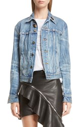 Saint Laurent Women's Army Patch Denim Jacket